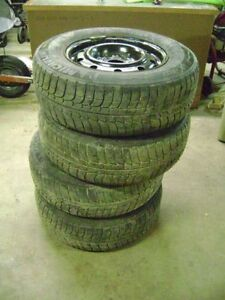 Michelin X-Ice 215/70-R15 tires and rims
