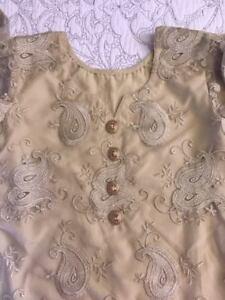 Golden 3 Piece Organza Dress Brand New Formal