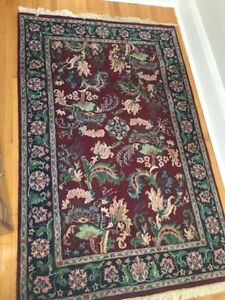 """Persian hand knotted rug  4` x 6`-2.5"""""""