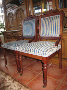 Two Antique fabric chairs - Moving Sunday
