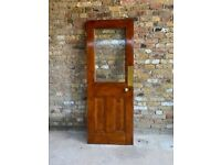 Solid wood doors, with glass insert (x 3)