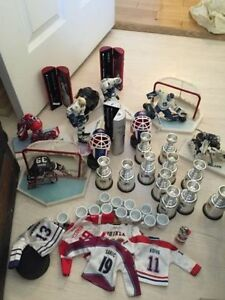 A bunch of NHL hockey memorabilia