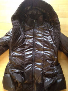Mackage down winter coat size large brown authentic