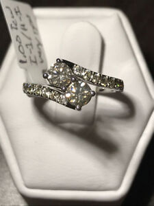 1.00TCW EVER US TWO-STONE DIAMOND RING 50% OFF !!!!!!!!!!