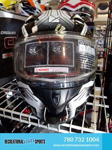 CLEARANCE SALE OF CKX BLACK FULL VISOR ATV SLED HELMETS!