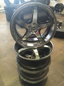 """18"""" Staggered Chrome Finish R1 Wheels / DYNASTY AUTO"""