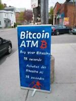 Bitcoin,Bitcoin Cash ATM online now, Downtown Ottawa  15 seconds