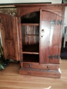 - TV cabinet or wardrobe - indonesian wood