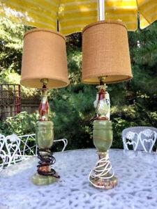 Jolie Paire de Lampes Vintage en ONYX West Island Greater Montréal image 3