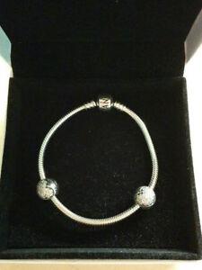 Authentic Pandora 925 sterling silver barrel clasp bracelet Windsor Region Ontario image 1