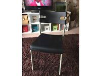 4 x ikea black chairs