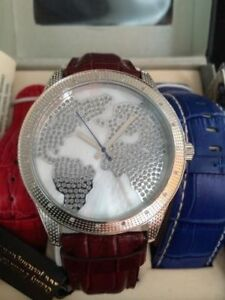 NEW Mens - Just Bling watch Designer Timepiece Stainless Steel