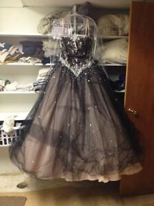 Black/Champagne Prom Dress for Sale!