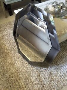 Two layered different coloured mirror - octagon, good condition London Ontario image 1