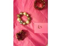 3 pieces costume jewelery