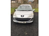 2008 peugeot 207 1.4 5dr silver full electrics cd player privacy glass motd sept 18