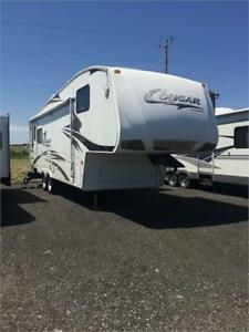 COUGAR 291RLS - ULTRALITE COUPLES 5TH, REAR LOUNGE, 2 SLIDES!