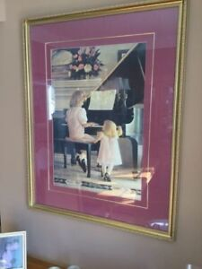 Piano Picture (Framed wall picture)