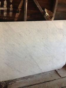 real white marble slab