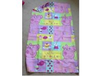 Peppa pig curtains and 2 pics