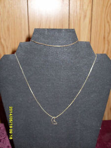 "10kt yellow gold 16"" fine chain necklace/matching bracelet"