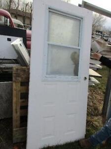 BLOWOUT Used Metal/ Wood Doors with Windows $50.00 each
