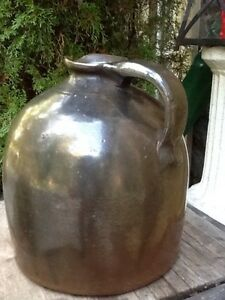 Antique SaltGlazed Stoneware Pitcher - Perfect!