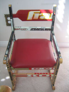 Children's Bench or Chairs - made from NHL Used Hockey Sticks