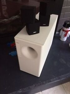 Bose speakers with acoustimass module