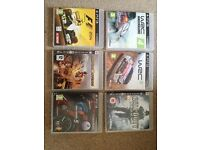PS 3 GAMES 6 piece Together ONLY 12 pounds