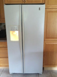 White side by side refrigerator