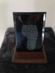 """Footprints in the Sand"" Mirror Plaque Stratford Kitchener Area image 1"