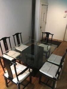 SET Chinois de SàM 6 Chaises Chinese Dining Room Set 6 Chairs