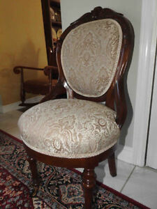 antique Victorian side chair, newly restored