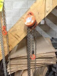 BRAND NEW CHAIN BLOCK HOIST CHAIN FALL 1100 TO 4400 lbs CAPACITY