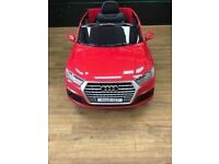 AUDI Q7 KIDS ELECTRIC RIDE ON REMOTE CONTROL CAR WITH RECEIPT