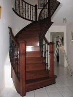 Hardwood Installation: $1.25/SF; Laminate: $1.00/SF – Staircase!
