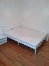 Dorset Bed Double 4ft6 + Bedzonline 4FT6 Double Memory Foam and Reflex Mattress