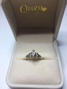 Ladies 14kt Yellow Gold Diamond Bridal Ring