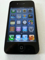 iPhone 4 Noir 16GB BELL / VIRGIN Avec les accessoires.