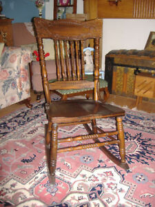 Variety of antique rocking chairs