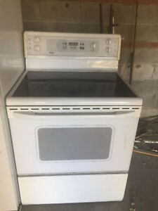 Kenmore white electric ceramic smooth top stove oven range