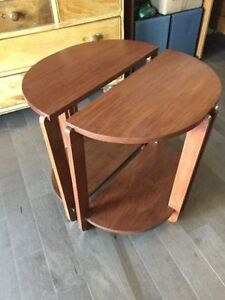 Two Maple Wood End Tables