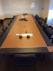 Mint Condition Board Room Table - Seats 18, $4k OBO