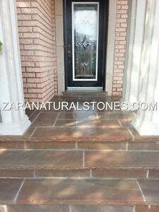 Dark Brown Wall Coping Stone Natural Stone Coping Step Treads