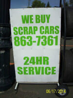 24/7 Buying Scrap Cars.FREE SCRAP METAL PICK UP.