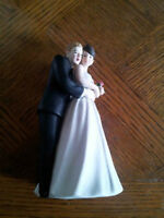 Hand Painted Porcelain Wedding Cake Topper