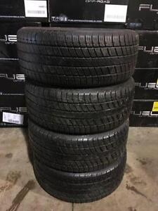 4 quality used P 225/50/16 Uniroyal Tiger Paw all season tires Installed and Balanced
