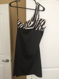 Black and Zebra Dress Brand New with Tags
