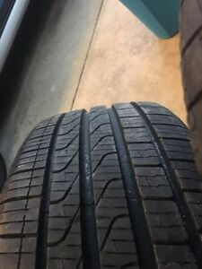USED ONLY TWO MTHS:  4 ALL SEASON TIRES WITH RIMS